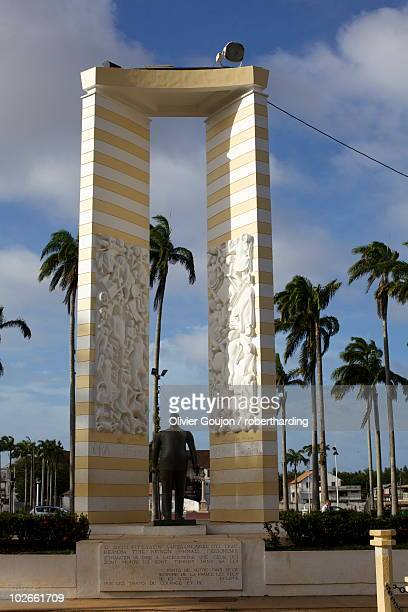 The Place des Palmistes and the statue of Felix Eboue, Cayenne, French Guiana, South America