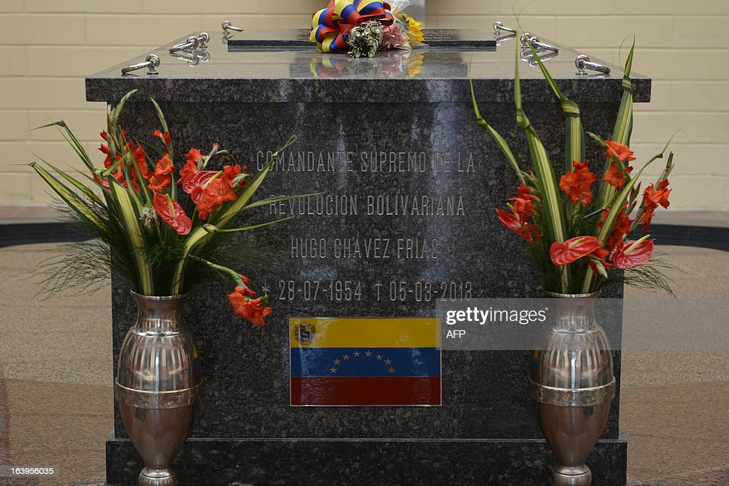 The place where the remains of late Venezuelan President Hugo Chavez lie are seen at the 'Quarter of the Mountain' in the 23 de Enero Chavez bastion, in Caracas, on March 18, 2013. The 'Quarter of the Mountain', where the body of Chavez lies, while deciding on its transfer to the National Pantheon, is a former barracks that was the center of operations of the failed coup led by Chavez on February 4, 1992.