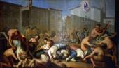 The plague of 1630 1810 fresco by Luigi Vacca Collegiate Church of Saints Peter and Paul Carmagnola Italy 19th century