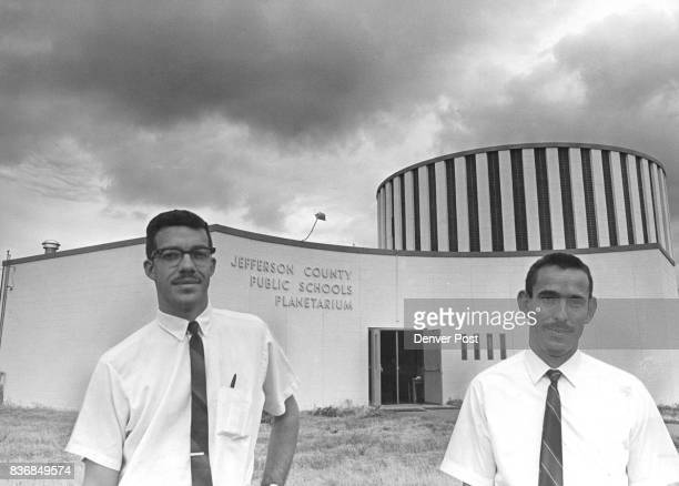 The planetarium curators Jim Vickery and Bob Risch take turns marshaling the stars the sun the moon and sometimes a spaceship about the 30foot domed...