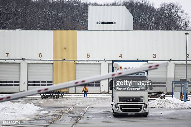 The plant of Bombardier is pictured on January 09 2017 in Bautzen Germany According to media reports Canadian train manufacturer Bombardier considers...