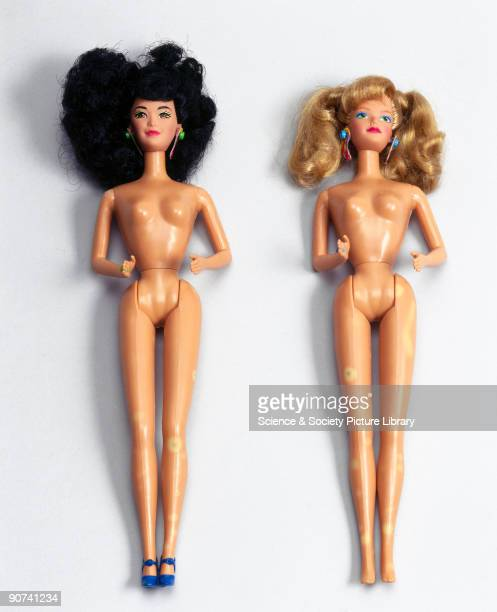 The plastic of both dolls shows signs of surface degradation Barbie made by Mattel celebrated her fortieth birthday in 1999 and remains one of the...