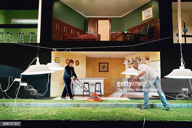 The play The Give and Take which opens at the Sydney Opera House on Thursday night features real grass in stead of astro turf The idea of designer...
