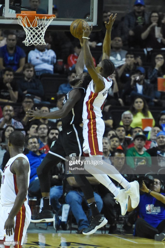 the player Demare Carroll of the team Brooklyn Nets is seen in action during the match of NBA between of Miami Heat and Brooklyn Nets on December 09, 2017 in México City, Mexico