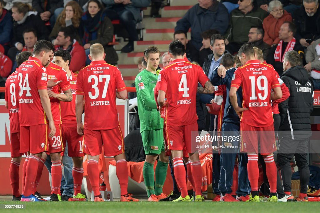 The player of 1 FC Union Berlin during the game between 1 FC Union Berlin and 1 FC Nuernberg on March 20, 2017 in Berlin, Germany.