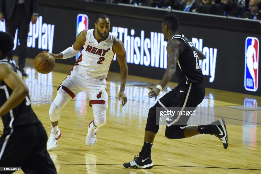the player Wayne Allington of the team Miami Heat is seen in action during the match of NBA between of Miami Heat and Brooklyn Nets on December 09, 2017 in México City, Mexico
