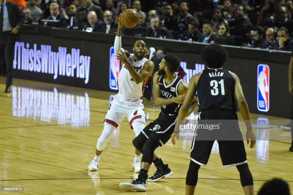 the player Wayne Ellington of the team Miami Heat is seen in action during the match of NBA between of Miami Heat and Brooklyn Nets on December 09, 2017 in México City, Mexico