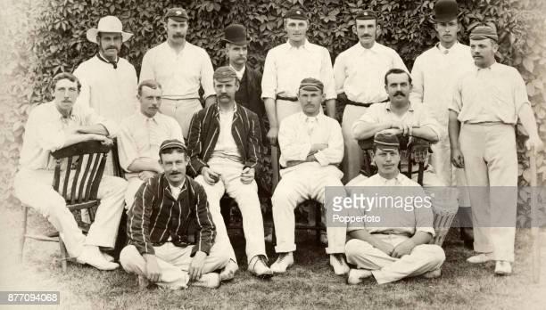 The Players cricket team circa 1887 Left to right back row Barrett George Ulyett Boyington George Lohmann Maurice Read Bowley and Johnny Briggs...