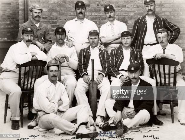 The Players cricket team circa July 1889 They beat The Gentlemen at The Oval in London by nine wickets Left to right back row Walter Wright Mordecai...