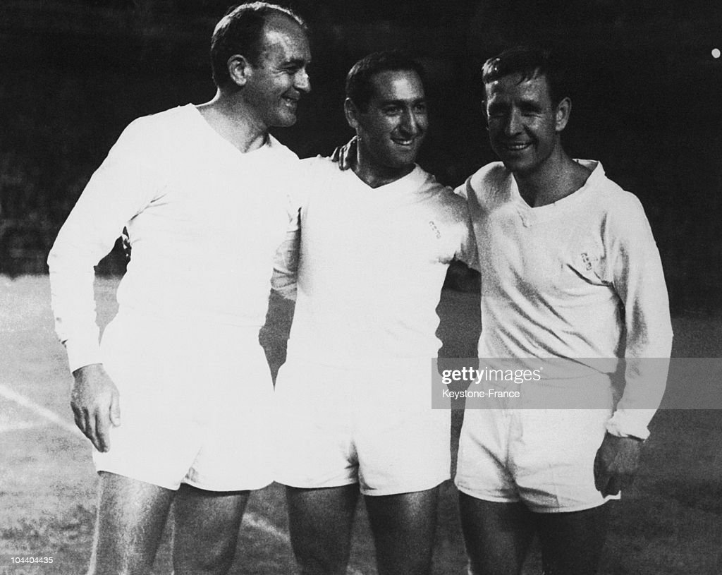 The Players Di Stefano Gento And Kopa In 1965