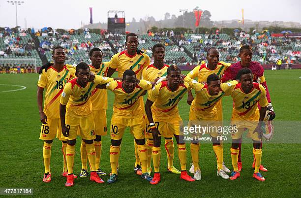 The players Mali line up for a group photograph prior to the FIFA U20 World Cup Third Place Playoff match between Senegal and Mali at the North...
