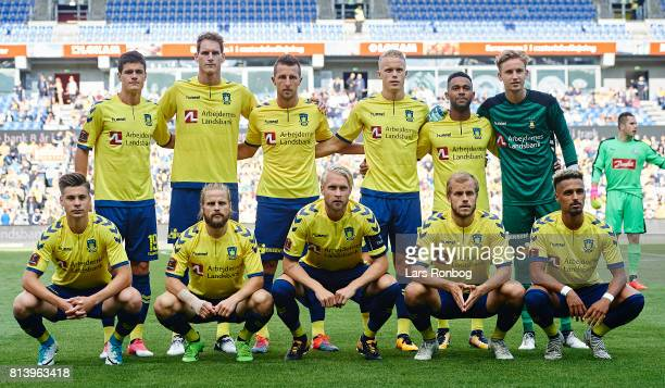 The players of Brondby IF pose for a group photo prior to the UEFA Europa League Qualification match between Brondby IF and VPS Vaasa at Brondby...