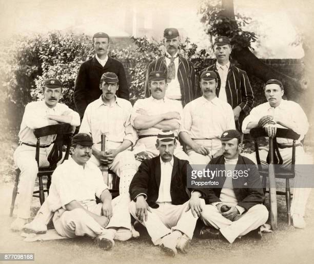 The Players of England cricket team prior to their match against Australia at Lord's Cricket Ground in London on 19th June 1890 Players won by an...