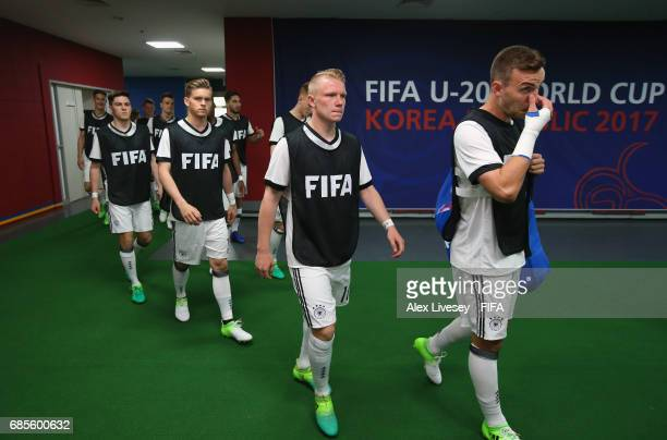 The players of Germany walk out for the warm up prior to the FIFA U20 World Cup Korea Republic 2017 group B match between Venezuela and Germany at...