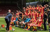 the players of Go Ahead Eagles preparing for the teamphoto during the team presentation of Go Ahead Eagles on July 15 2016 at the Adelaarshorst...