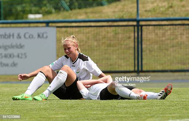 The players of Guetersloh show their frustration after loosing the U17 Girl's German Championship final match between 1FFC Turbine Potsdam and FSV...