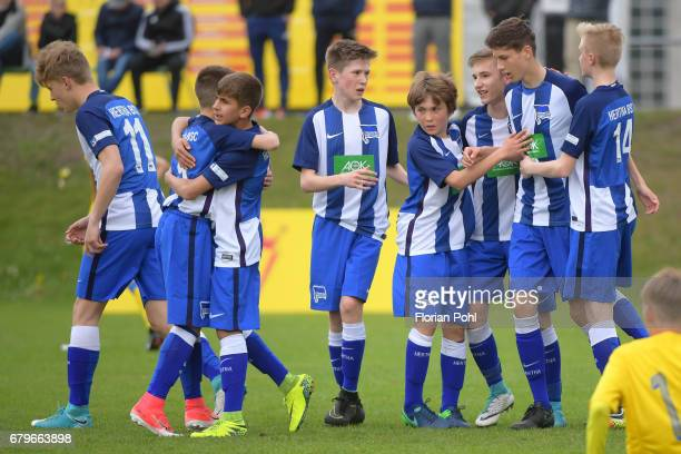 The players of Hertha BSC U14 during the Nike Premier Cup 2017 on May 6 2017 in Berlin Germany