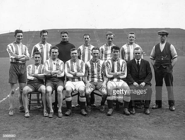 The players of Huddersfield Town football team