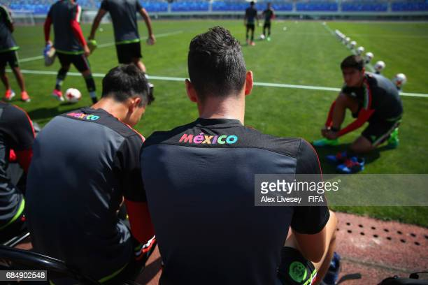 The players of Mexico prepare for a training session at the Hanbat Sports Complex ahead of the FIFA U20 World Cup on May 19 2017 in Daejeon South...