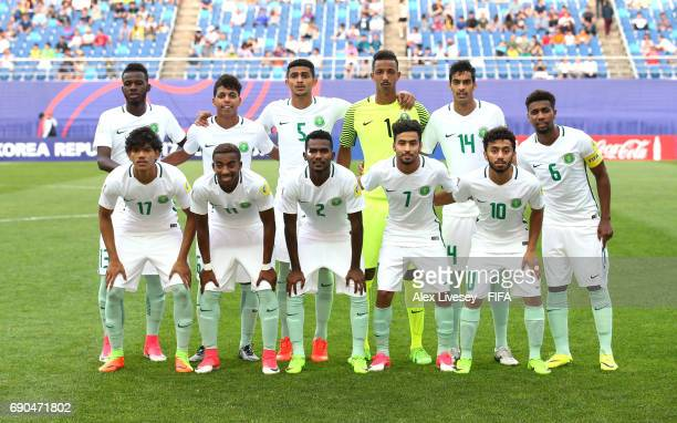 The players of Saudi Arabia pose for a team photograph prior to the FIFA U20 World Cup Korea Republic 2017 group F match between USA and Saudi Arabia...