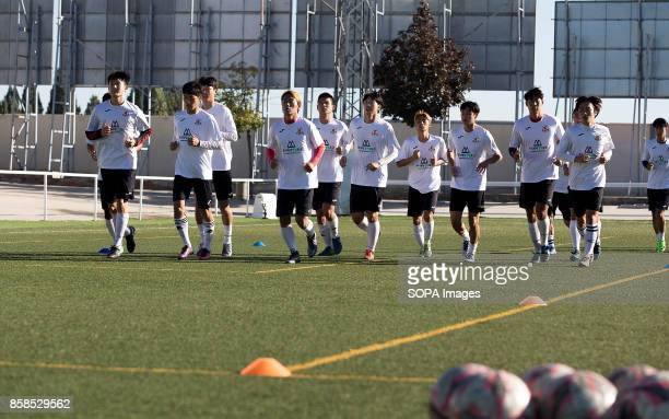 FIELD ILLESCAS TOLEDO SPAIN The players of the QUM FC training at the Illescas pitch The town of Illescas in Toledo in Spain welcomed a football team...