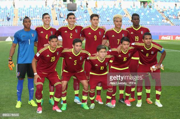 The players of Venezuela pose for a team photograph prior to the FIFA U20 World Cup Korea Republic 2017 Round of 16 match between Venezuela and Japan...