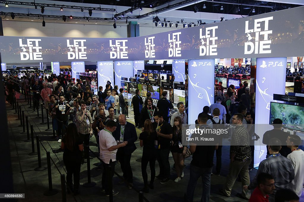 The Playstation 4 section of E3 Electronic Entertainment Expo as the doors open at noon June 10, 2014 in Los Angeles, California. The annual video game conference and show runs June 10-12.