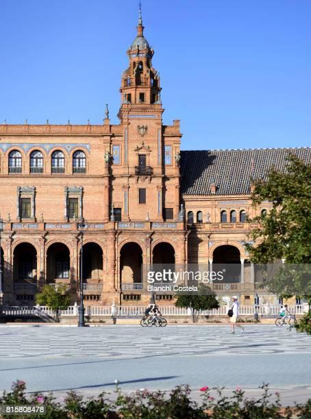 The Plaza de España in Seville, Spain