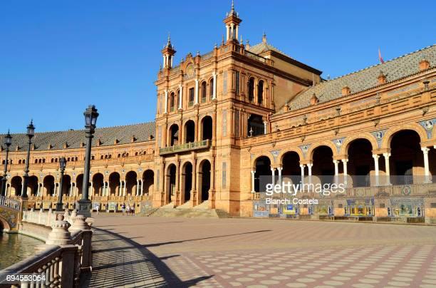 The Plaza de Espana in Seville Spain