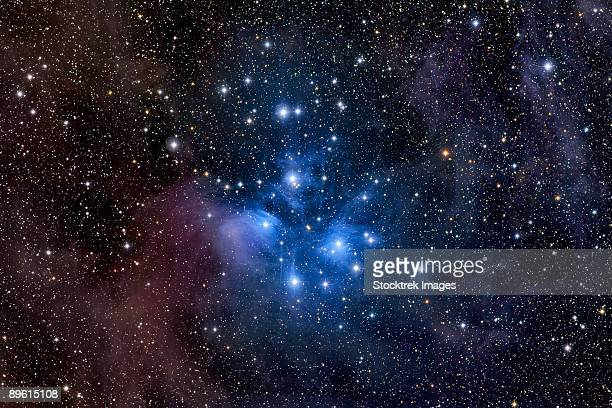 The Pleiades, also known as M45, the Seven Sisters, Seven Stars, or SED, is an open cluster in the constellation of Taurus.