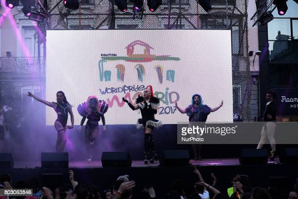The Plexy attends the launch of the Gay Pride in Madrid on 28th 2017 From the Plaza de Pedro Zerolo is the kickoff party to the Pride parties called...