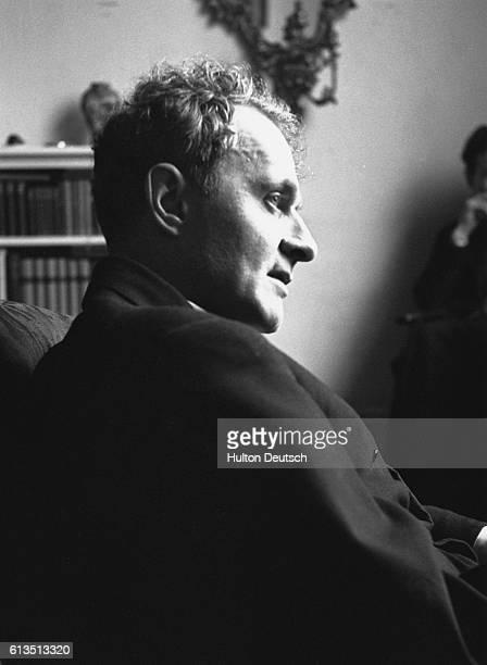 The poet Stephen Spender He was a contemporary of Auden at Oxford and an author of 'modern poetry' 1951