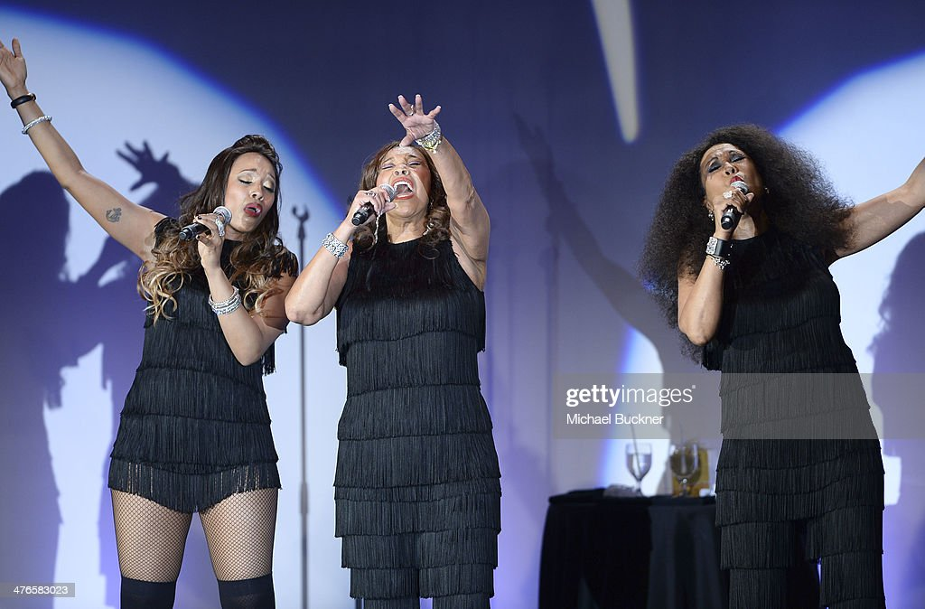 The Pointer Sisters perform at the Venice Family Clinic's 32nd Annual Silver Circle Gala at The Beverly Hilton Hotel on March 3, 2014 in Beverly Hills, California.