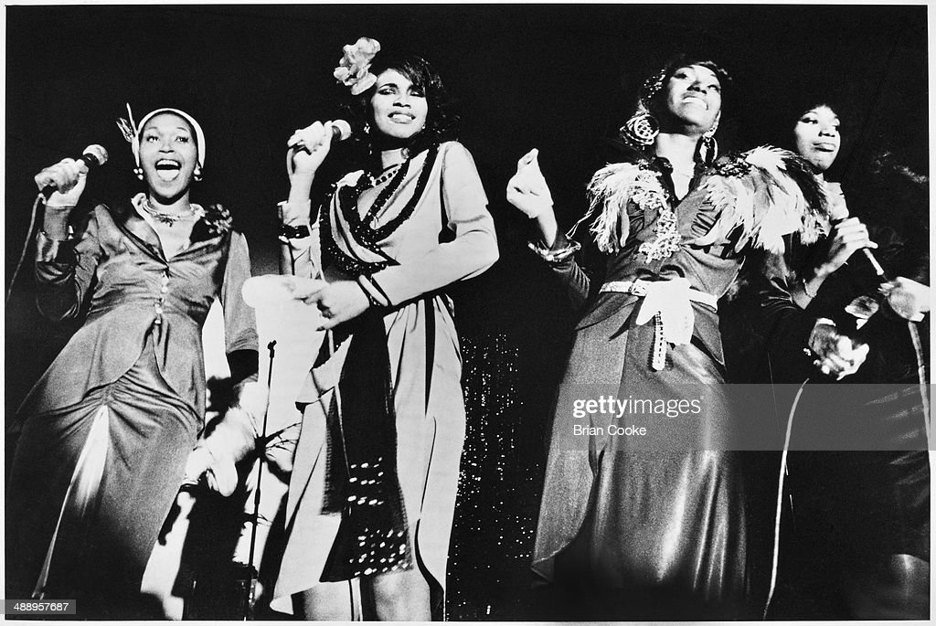 The Pointer Sisters performing at the Victoria Theatre London on 27th January 1974