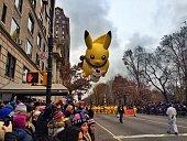The Pokeman balloon in Macy's Thanksgiving Parade