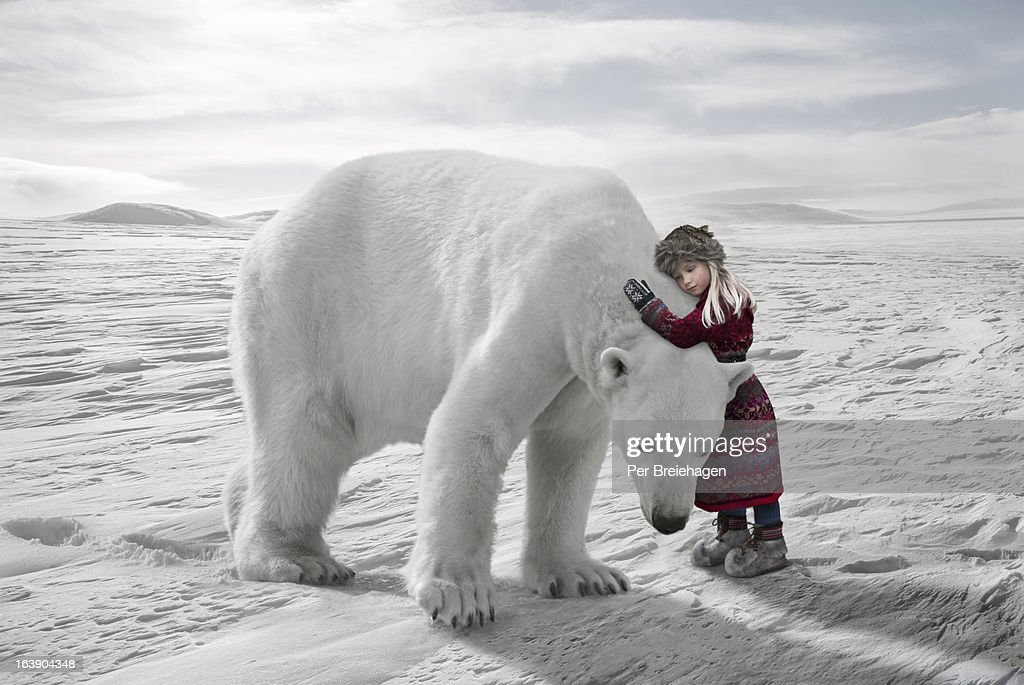 The Polar Bear hug : Stock Photo