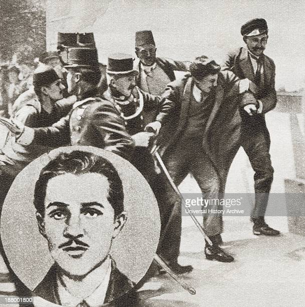 The Police Arresting Gavrilo Princip 1894 1918 Bosnian Serb Who Assassinated Archduke Franz Ferdinand Of Austria And His Wife Sophie Duchess Of...