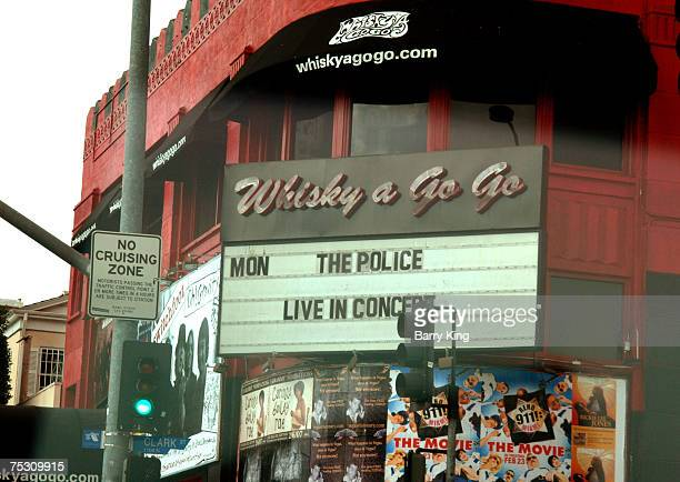 The Police Reunion Concert Tour marquee at the Whisky A Go Go club in West Hollywood CA