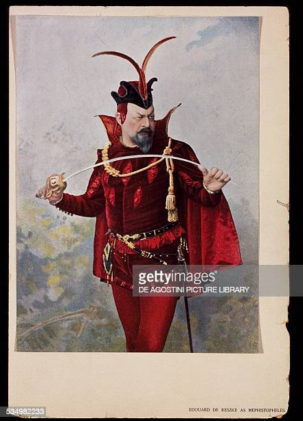 The Polish bass Edouard de Reszke in the role of Mephistopheles in Faust by Charles Gounod 19th century Londra Royal Opera House Archives