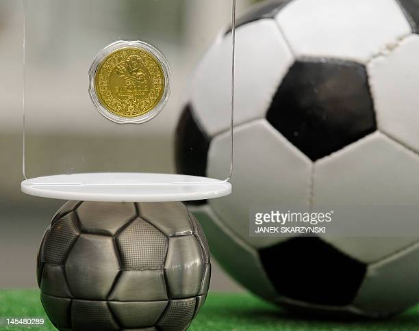 The Polish central bank on May 31 2012 unveiled a set of coins to commemorate the Euro 2012 football championships cohosted by Poland and Ukraine...