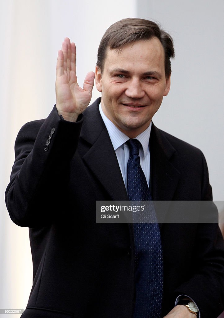 The Polish Minister of Foreign Affairs <a gi-track='captionPersonalityLinkClicked' href=/galleries/search?phrase=Radoslaw+Sikorski&family=editorial&specificpeople=736409 ng-click='$event.stopPropagation()'>Radoslaw Sikorski</a> arrives to attend the Afghanistan London Conference at Lancaster House on January 28, 2010 in London, England. Foreign ministers from over 70 countries will attend the conference, co-hosted by British Prime Minister Gordon Brown, Afghan President Hamid Karzai and UN Secretary General Ban Ki-moon. Talks aims to tackle key issues on the future of Afghanistan and the gradual withdrawal of international troops from the country.