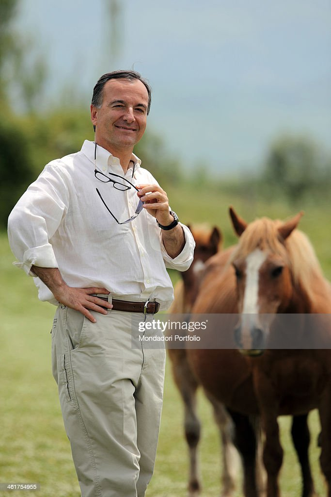 The politician and Minister of Foreing Affairs <a gi-track='captionPersonalityLinkClicked' href=/galleries/search?phrase=Franco+Frattini&family=editorial&specificpeople=536993 ng-click='$event.stopPropagation()'>Franco Frattini</a> photo shooted in his country house. Torricella in Sabina, Italy. 30th May 2010