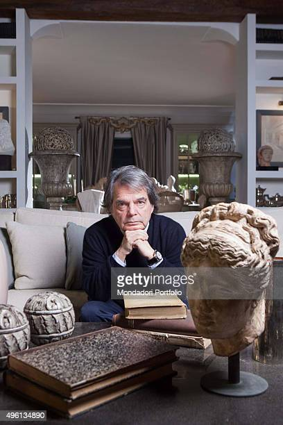 The politician Renato Brunetta in the living room of his house Rome Italy 2nd January 2014
