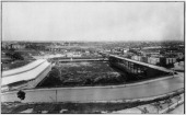 The Polo Grounds New York New York 1895 View looking across the Hudson River to the Bronx