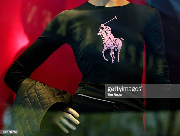 The Polo Ralph Lauren logo is seen on a mannequin in a store window at the Polo Ralph Lauren store November 4 2004 in downtown Chicago Illinois Polo...