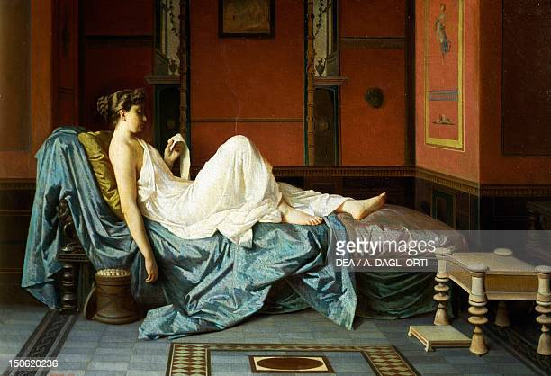 The Pompeian by Federico Maldarelli oil on canvas