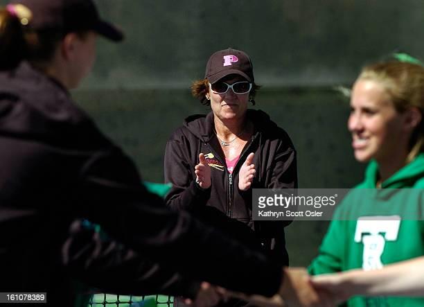 PRPTENNIS22_KSO_4_22_08016 The Ponderosa High School girls varsity tennis team hold a meet in Parker on Tuesday April 22 against the ThunderRidge...