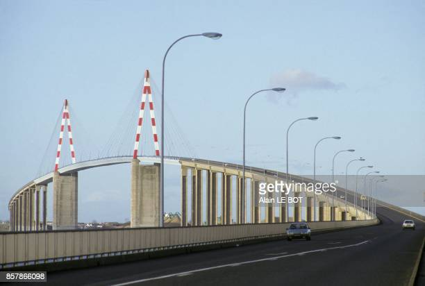 The Pont de Saint Nazaire on the Loire river in January 1993 in Saint Nazaire France