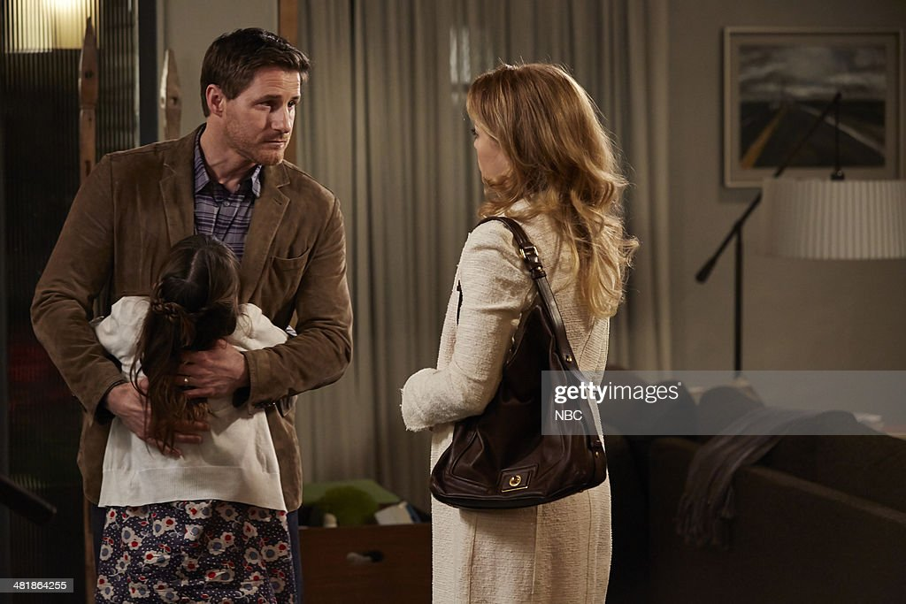 PARENTHOOD -- 'The Pontiac' Episode 522 -- Pictured: (l-r) Sam Jaeger as Joel Graham, Savannah Paige Rae as Sydney Graham, <a gi-track='captionPersonalityLinkClicked' href=/galleries/search?phrase=Erika+Christensen&family=editorial&specificpeople=202168 ng-click='$event.stopPropagation()'>Erika Christensen</a> as Julia Braverman-Graham --