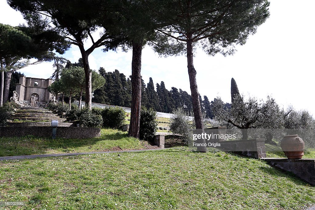 The Pontifical residence of Castelgandolfo is seen on February 20, 2013 in Rome, Italy. The Apostolic Palace and The Ponifical Villas of Castelgandolfo, 10 miles south Rome, are the summer residence of Popes and will host Pope Benedict XVI during the next conclave.